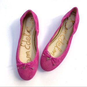 Sam Edelman Pink Perforated Felicia Ballet Flats